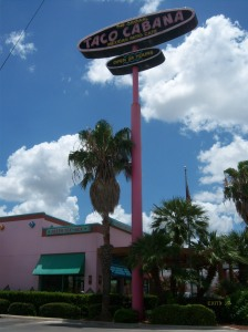 Photo of the Taco Cabana on Broadway at Mulberry in San Antonio, Texas.