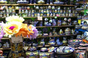 Photo of talavera pottery room at Fiesta on Main.