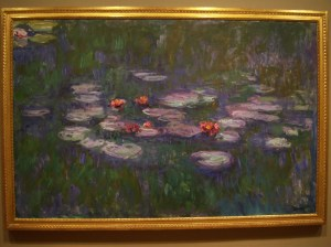 Photograph of Monet's water lillies painting at the McNay Art Museum.