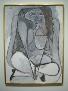 Photo of Picasso's painting of a woman.