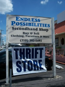 Photo of the sign outside of Endless Possibilities, 248 West Olmos Drive.