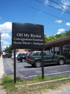 Photo of the exterior of Off My Rocker, 204 West Olmos.