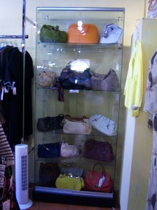Photo of designer handbags at Otra Vez Couture Consignment.
