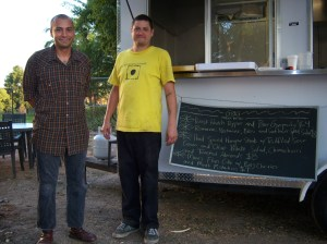 Photo of Gabe Garman and Gus Gonzalez of G&G Mobile Bistro, San Antonio, Texas.