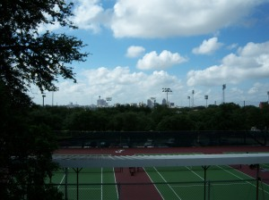 Photo of downtown San Antonio take from Trinity University, the Skyline Campus.