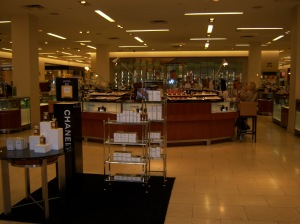 Photo of the Chanel counter at Saks Fifth Avenue/North Star Mall.