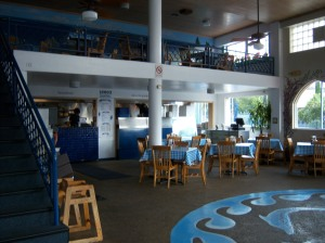 Photo of the interior of Demo's Greek Food on N. St. Mary's Street.