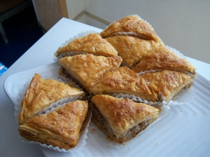 Photo of Demo's baklava, a Greek dessert.