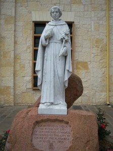 Photo of statue of San Antonio de Padua.