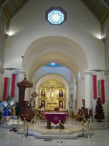 Photo of San Fernando Cathedral altar and retablo.