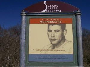 Photo of the Morningstar Boardwalk signage.