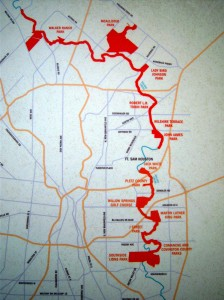 Photo of a Salado Creek Greenway map