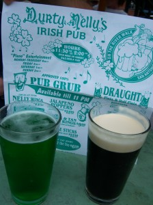 Photo of pints of beer at Durty Nelly's Irish Pub on San Antonio's River Walk.